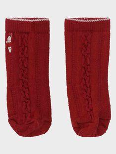 Chaussettes Rouge SAWINNIE / 19H4BGP1SOQ050