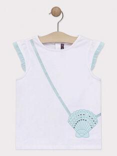 Tee Shirt Manches Courtes Ecru TYUMETTE / 20E2PF31TMC001
