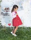 Robe salopette rouge brodée enfant fille BAROBETTE / 21H2PF11CHSF505