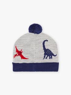 Bonnet bicolore motif dinosaures enfant garçon BABANAGE / 21H4PGD1BON943