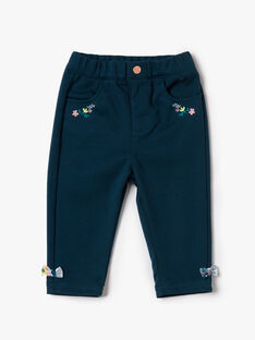Pantalon en maille milano vert paon VAGRETEL / 20H1BFL1PANC235