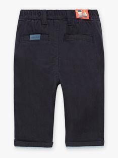 Pantalon twill bleu nuit bébé garçon BANATHAN / 21H1BGL1PANC205