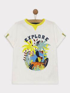 Tee shirt manches courtes blanc ROSIAGE / 19E3PGM3TMC001