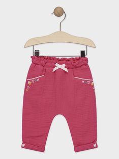 Pantalon rose bébé fille  TAISABELLE / 20E1BFG2PAN302