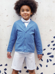 Bermuda à rayures bleues et blanches enfant garçon TIBERMAGE / 20E3PGJ3BER020