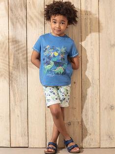 Bermuda vert imprimé feuillage enfant garçon TUWAGE / 20E3PGX4BER001