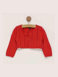 Cardigan rouge RAMARION / 19E1BFE1CAR050
