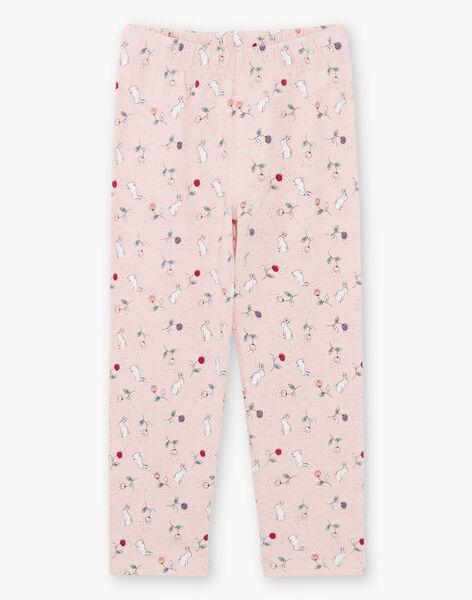Pyjama rose chiné motif animaux de la forêt enfant fille  BEBARNETTE / 21H5PF64PYJD314