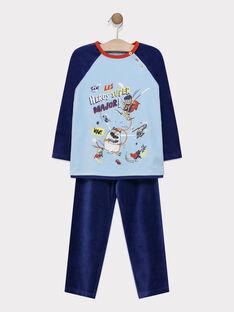 Pyjama velours uni animation super héros multitechniques petit garçon SEHEROAGE / 19H5PG52PYJ020