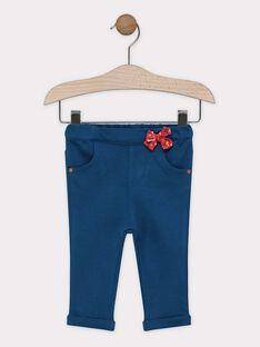 Pantalon legging bleu pétrole bébé fille SAAMY / 19H1BF21PAN714