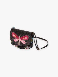 Sac bandoulière noir motif papillon enfant fille BRIDJETTE / 21H4PFM1BES090