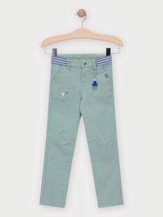 Pantalon vert pale avec porte clé volant de badminton garçon  TERAGE / 20E3PGH1PANG603