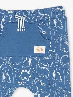 Pantalon de jogging bleu imprimé ZAEMILIO / 21E1BGB1JGBC230