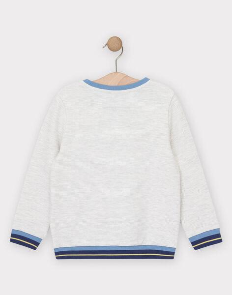 Sweat shirt en maille beige garçon  TIEFLAGE / 20E3PGO1SWE001