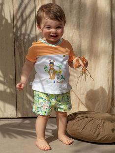 T-shirt manches courtes bicolore imprimé bébé garçon TAWAPI / 20E1BGX1TMC001