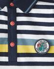 Polo jersey rayé marine et écru VEPOLOAGE / 20H3PGM2POL715
