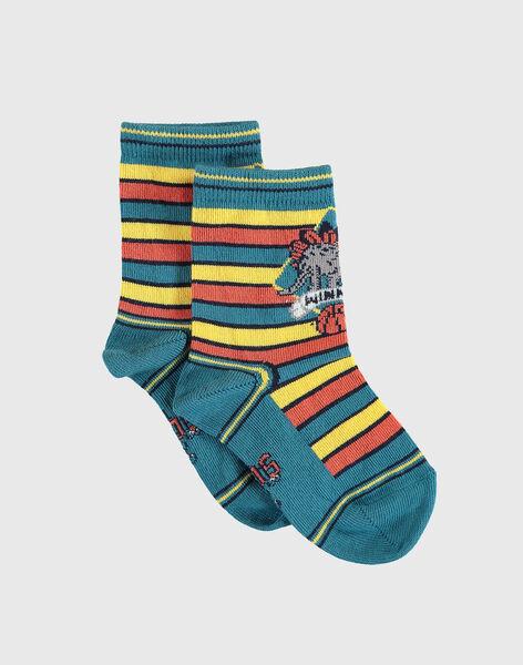 Chaussettes rayées petit enfant garçon VETIRAGE / 20H4PGM1SOQ608