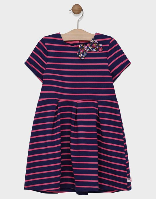 Robe en maille rayée fille SIJOLETTE / 19H2PF42ROB070