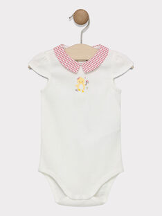 Body écru avec col imprimé bébé fille  SACECILE / 19H1BF31BOD001