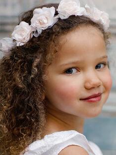 Couronne de fleurs et tulle enfant fille TYHUETTE / 20E4PFJ1ACD000