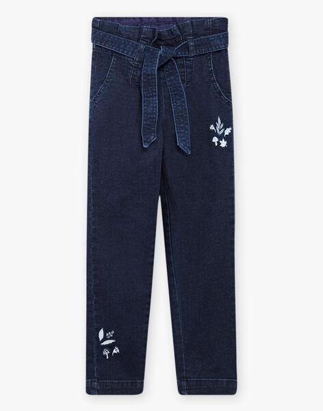 Pantalon paperpag en denim enfant fille BYJEANETTE / 21H2PFL1JEAP269