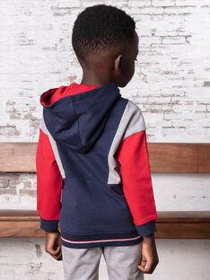 Veste de jogging à capuche bleu marine enfant garçon BASAGE1 / 21H3PG31JGH070