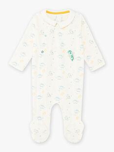 Grenouillère col chemise imprimé dinosaures bébé garçon BECESAR / 21H5BG75GRE001