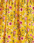 Salopette doublée jaune imprimé fleuri bébé fille VAEVAEX / 20H1BF61SAL107