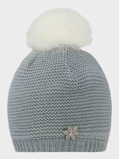 Bonnet point mousse gris perle fille SUIDAFETTE / 19H4PFN2BON904