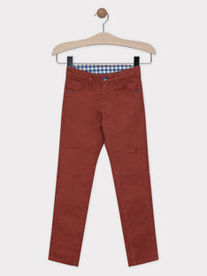 PANTALON coloris terre battue coupe regular SAETAGE / 19H3PG21PANF519