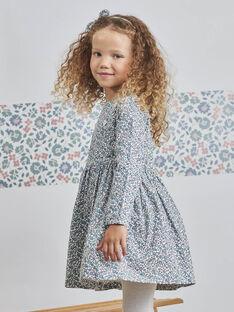 Robe manches longues à imprimé fleuri enfant fille BLADRETTE / 21H2PFO1ROB001