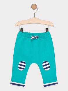 Pantalon de jogging bébé bleu turquoise  TAEUDELIN / 20E1BGD1JGB209