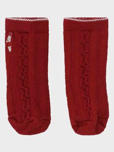 Chaussettes rouge bébé garçon SAWINNIE / 19H4BGP1SOQ050