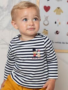 T-shirt manches longues  à rayures bébé garçon BAFLORIS / 21H1BG51TML001