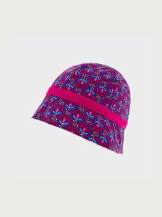Chapeau violet à motifs ROTAVETTE / 19E4PFM2CHA703