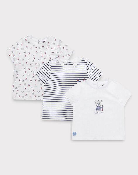 lot de t-shirts Ecru TIVINCENT / 20E1BG91LDT001