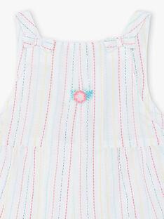 Combinaison courte à rayures brodées bébé fille ZAQUINA / 21E1BFS1CBL001