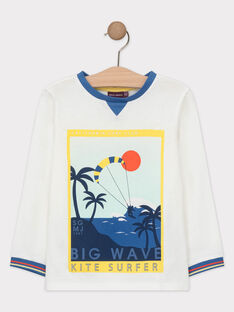 Tee-shirt à manches longues blanc garçon  TUTILAGE 3 / 20E3PG93TML000