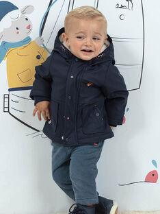 Doudoune réversible à capuche bleu marine bébé garçon BIOLIVE / 21H1BGD1DML070