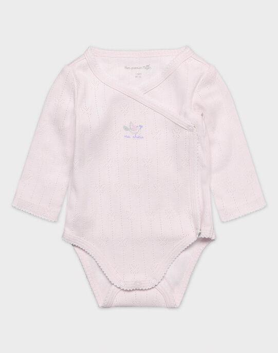 Lot de 2 bodies lingerie écru et imprimé bébé fille TYFENE / 20E0NFF1BOD000