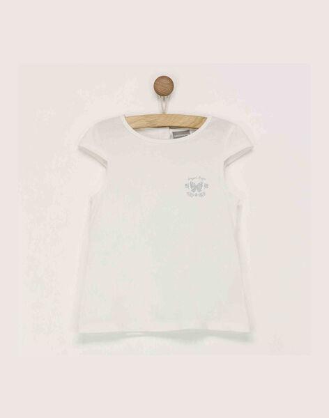 Tee shirt manches courtes écru RUFAPETTE / 19E2PFF1TMC001