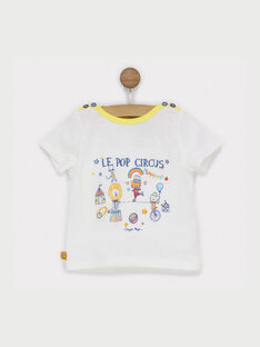 Tee shirt manches courtes écru RAEDEN / 19E1BGC1TMC001