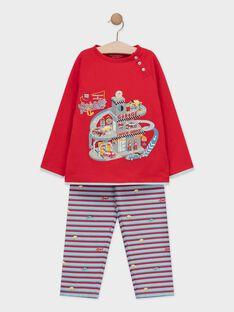 Pantalon rouge petit garçon  TEGARAGE / 20E5PG77PYJF529