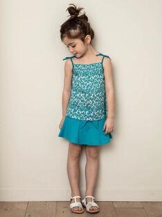 Jupe patineuse bleue enfant fille ZLUCETTE2 / 21E2PFL2JUP714