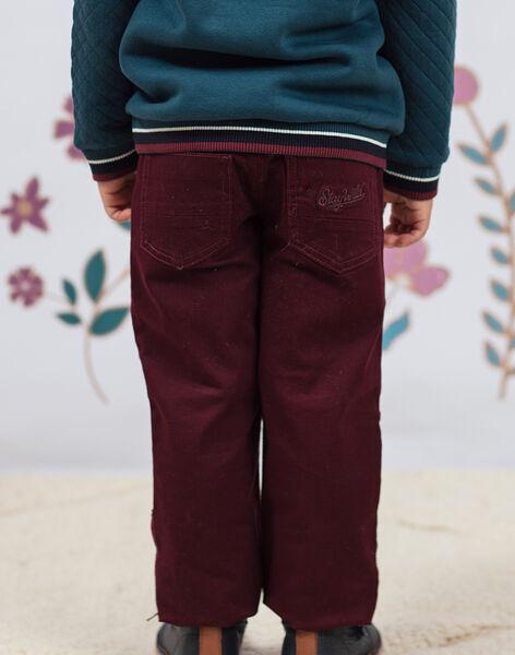 Pantalon rouge enfant garçon BEXOTAGE / 21H3PG91PANF511