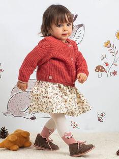 Gilet maille ajourée vieux rose bébé fille BAIRIS / 21H1BFJ1CARD332