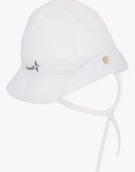Chapeau blanc brodé bébé garçon TAJOSE / 20E4BGJ2CHA001