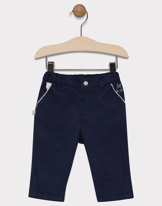 Pantalon bébé garçon bleu marine SADURIS / 19H1BG31PAN713
