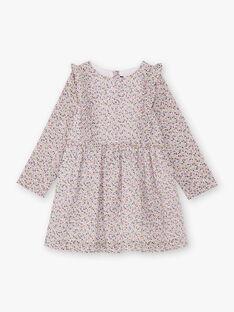 Robe imprimé fleuri enfant fille BEROETTE / 21H2PF21ROB001