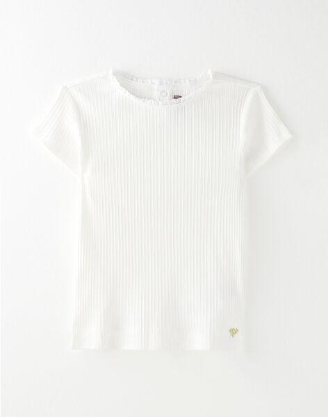 Tee Shirt Manches Courtes Ecru VETISHETTEX1 / 20H2PFC9TMC001